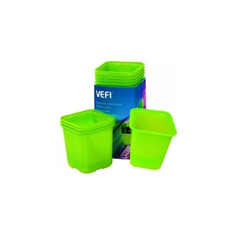 VEFI doniczki do wysiewu 8x8 cm 20 szt zielone